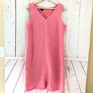 Talbots Sz 10P petites salmon pink tweed dress